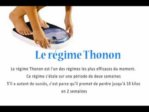 regime thonon perdre du poids rapidement youtube. Black Bedroom Furniture Sets. Home Design Ideas