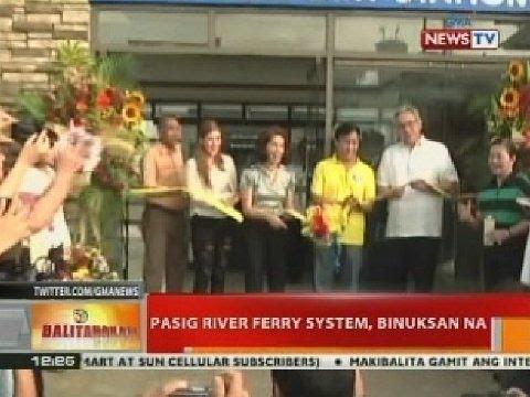 BT: Pasig River ferry system, binuksan na