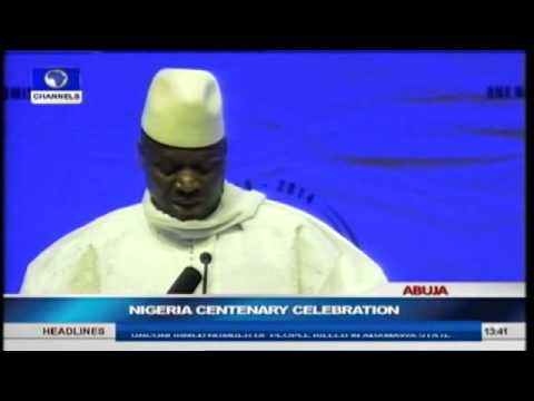 Nigeria Centenary: President of the Gambia Addresses World Leaders In Abuja