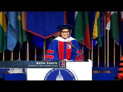 Katie Couric Commencement Speech - American University 2014