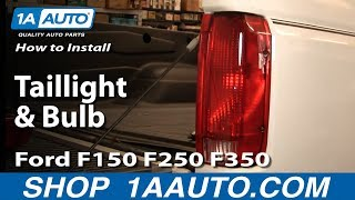 How To Install Replace Taillight And Bulb Ford F150 F250