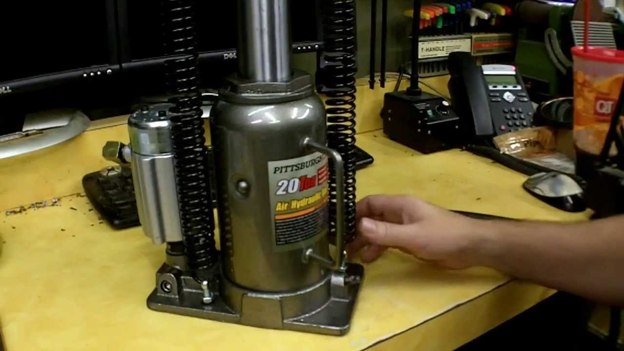 Harbor Freight Air Over Hydraulic Bottle Jack Review Item
