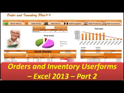 Excel VBA - Orders and Inventory - Excel 2013 - Userforms Part 2