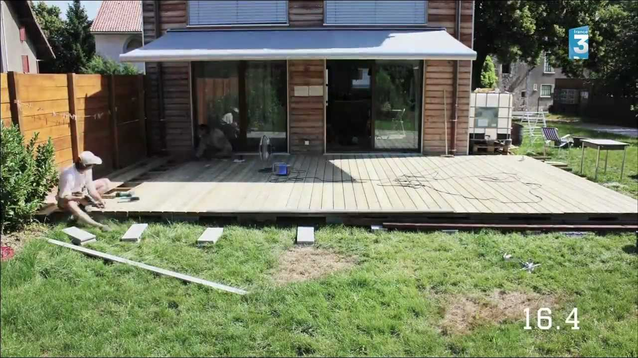 Construction dune terrasse en bois  YouTube