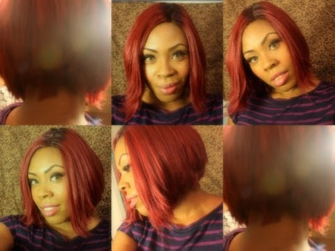 K Michelle Red Hair Bob Michelle BET Awards Inspired Wig under $30! - YouTube