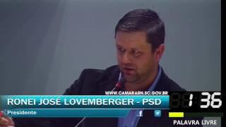 007 - Palavra livre 7, RONEI JOSÉ LOVEMBERGER (MARÇO, DIA 20 SESSÃO ORDINÁRIA 2017)