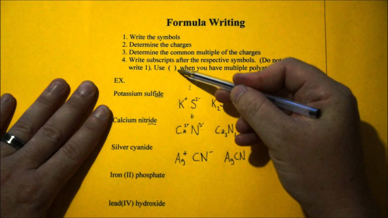 How to write the formula for this compound ammonium sulfate