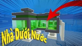 Cách Làm Nhà Dưới Nước ? (Minecraft)