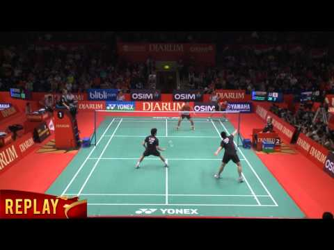 M. Ahsan/ Hendra Setiawan (INDONESIA) VS H. Endo/ Kenichi H. (JAPAN) Djarum Indonesia Open 2013
