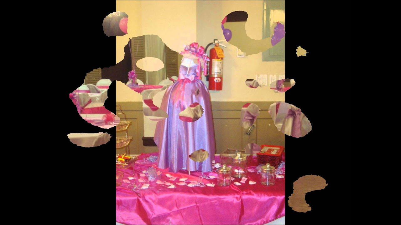 Balloon decorations hot pink lavander baby shower for Balloon decoration ideas youtube