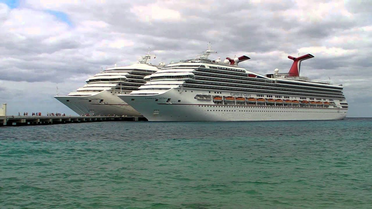 Carnival Glory Amp Triumph In Cozumel Mexico  YouTube