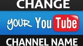 How To Change Your Youtube Username October 2014