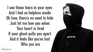 Tired - Alan Walker Ft. Gavin James (lyrics)