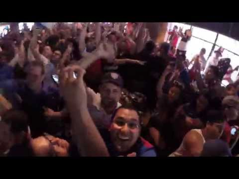 World Cup: John Brooks late goal reaction at Lucky's pub Houston, TX