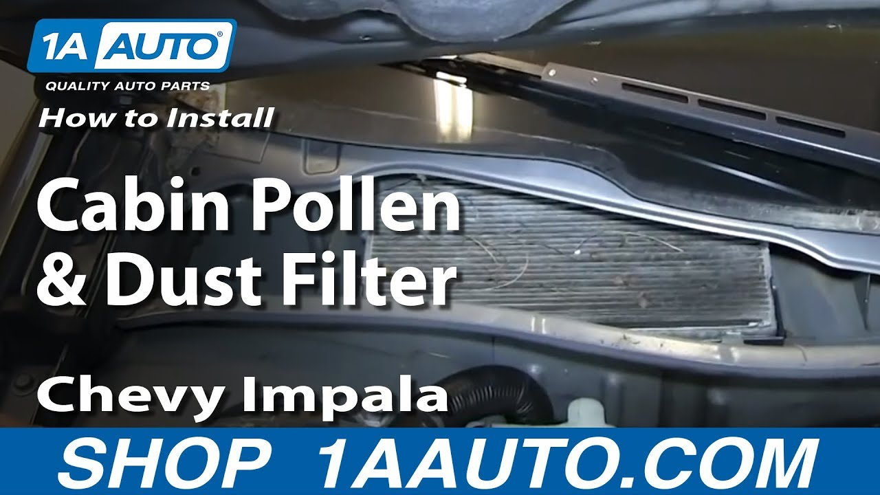How To Install Replace Cabin Pollen And Dust Filter 2006