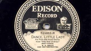 Dance Little Lady B A Rolfe and his Orchestra 1928 view on youtube.com tube online.