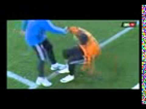 Cristiano Ronaldo injury at Real Madrid training 2014