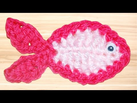 Crochet Fish Applique Tutorial