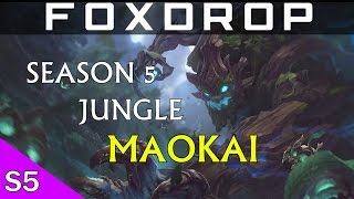 LoL Season 5 Jungle VISUAL UPGRADE MAOKAI Full Game