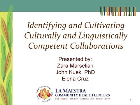 Culturally and Linguistically Competent Collaborations