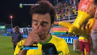 """Rius: """"No lo supimos aguantar"""". Defensa 1 - San Lorenzo 2. Fecha 2. Primera División 2015. FPT."""
