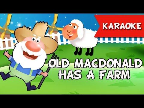Old MacDonald Karaoke ♫ Nhạc Thiếu Nhi Vui Nhộn ♥ Học Tiếng Anh Qua Bài Hát ♫ ♫ ♫