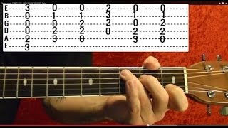 OASIS WONDERWALL Easy Guitar Lessons By BobbyCrispy