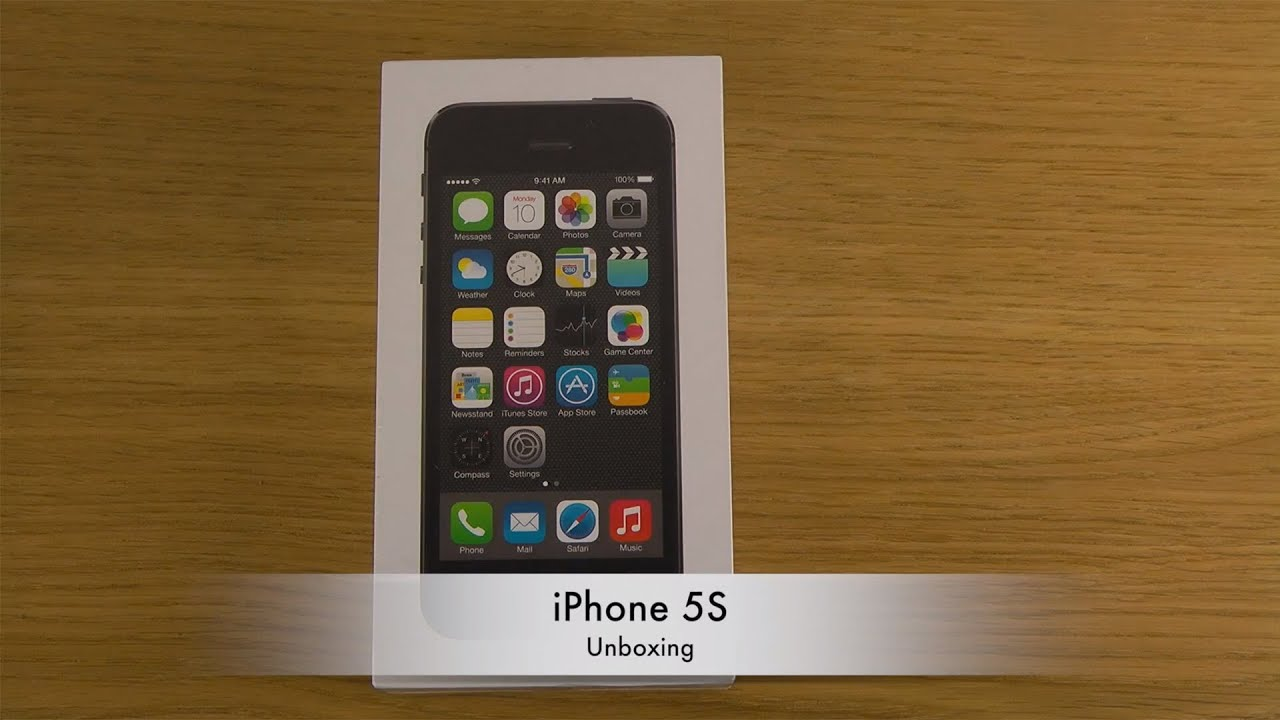 iphone 5s - unboxing