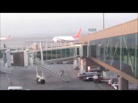 Air India Airbus A320 disembarkation