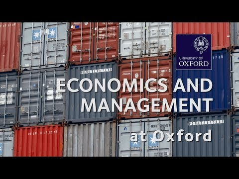 Economics and Management at Oxford University
