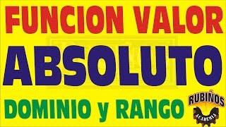 FUNCION VALOR ABSOLUTO PROBLEMA RESUELTO DE DOMINIO Y RANGO