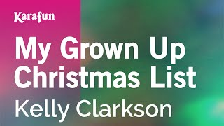 Karaoke My Grown Up Christmas List Kelly Clarkson
