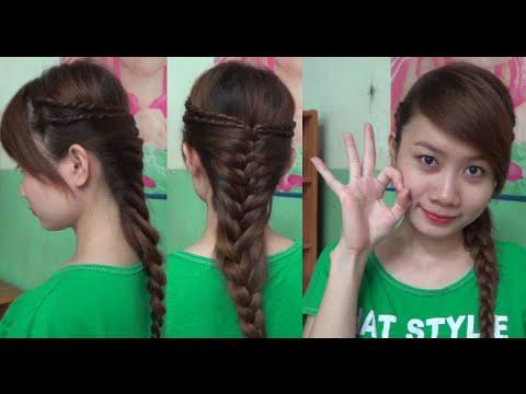 Hairstyles - Kiểu Tóc Vặn Thừng Kết Hợp Tết Đuôi Sam