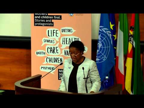 "Dr.Zainab Hawa Bangura / 19 ""Mothers and children first"", Milan 2013"