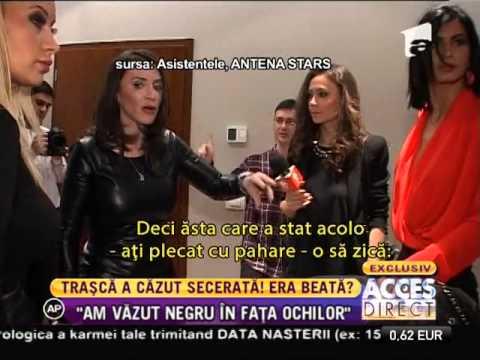 După câteva pahare, Simona Traşcă a leşinat în timpul unei prezentări de modă