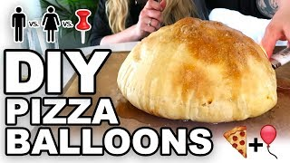 DIY Pizza Balloons -  Man Vs Corinne Vs Pin