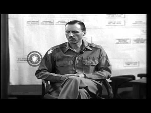 Major Tisdell recalls events of April 8, 1942 in Bataan, Philippines during the H...HD Stock Footage