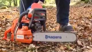 Устройство, работа и запуск бензопилы (Husvarna)