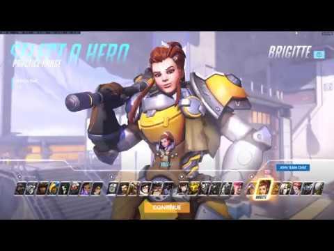 (Overwatch) Brigitte gameplay