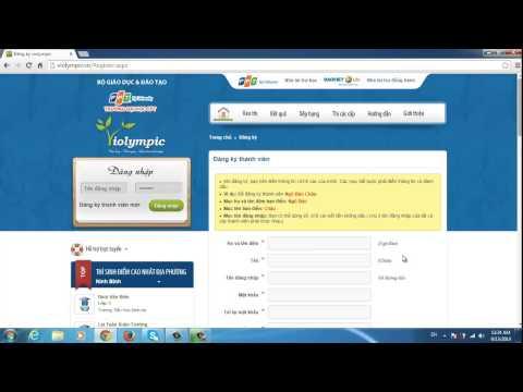 Bài 1 - Hướng dẫn đăng ký Violympic Toán