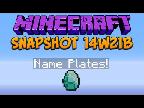 Minecraft 1.8: Snapshot 14w21b Name Plates & Not Much Else