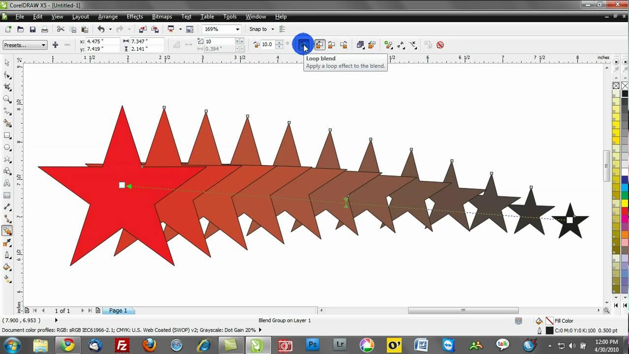 Corel Draw Training Video Tutorials: Blend Tool  Youtube