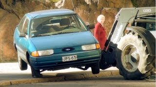 Wrecking A Parked Car - PRANK
