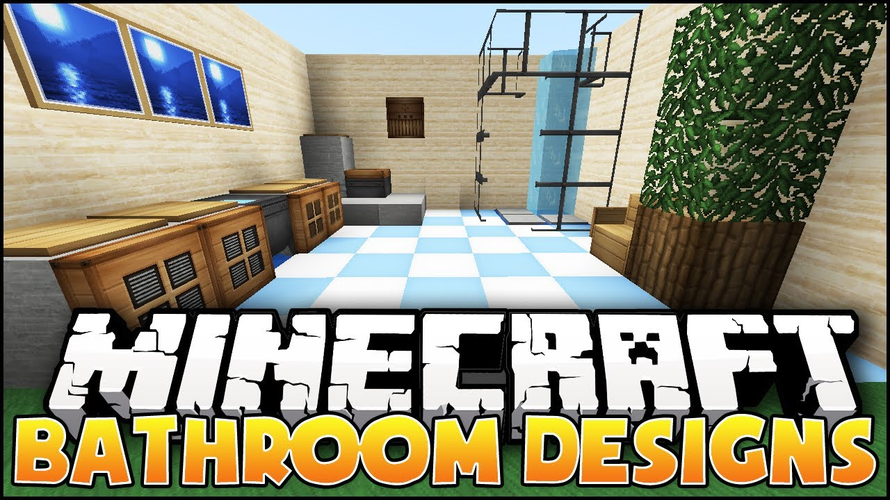 Minecraft nice bathroom designs ideas youtube for Bathroom designs minecraft