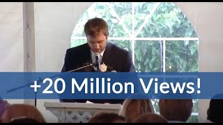 Best Brother Wedding Speech Kills Crowd (hilarious ending!)