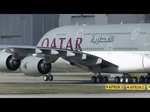 First QATAR A380-861 (MSN 137) in Final Painting Design 27.03.2014