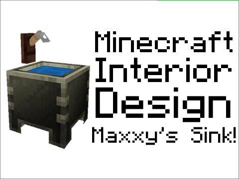 Minecraft Furniture Design Tutorial Maxxyhax 39 S Sink Youtube