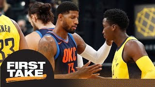 First Take debates which team won Paul George-Victor Oladipo trade | First Take | ESPN