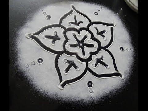 Simple Rangoli / kolam design - 12