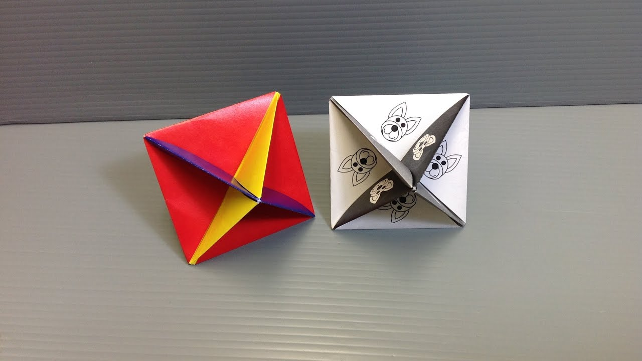print and make your own action origami spinning top youtube